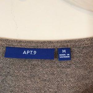 Apt. 9 Tops - NWT [apt 9] Tan Marble Embellished Tee Medium